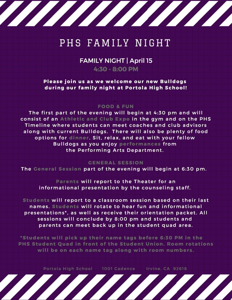 family night flyer 2