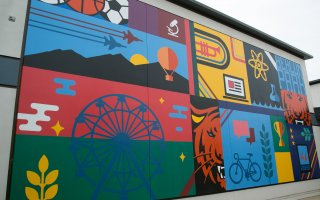beacon park mural wall