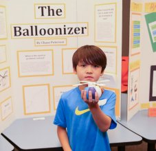 student at science fair